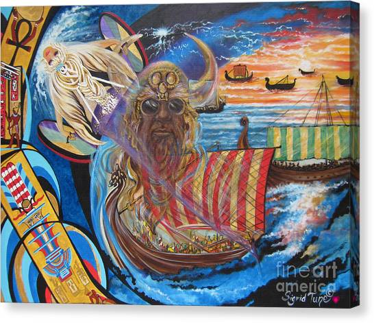 Empires Never Die                                          Blaa Kattproduksjoner          Canvas Print