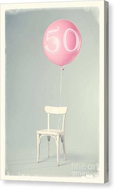 Balloons Canvas Print - 50th Birthday by Edward Fielding