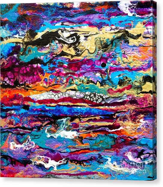 #521  Bright Swipe Canvas Print