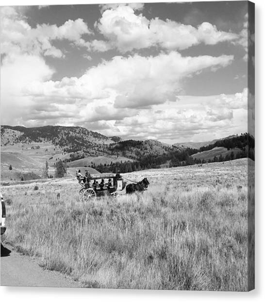 Rocky Mountains Canvas Print - Stagecoach Ride Through Western United States by Jonathan Stoops