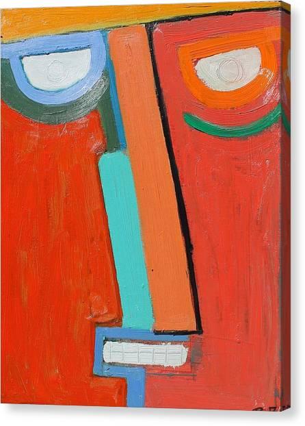 2face Oil On Board 16 X 20  2008 Canvas Print