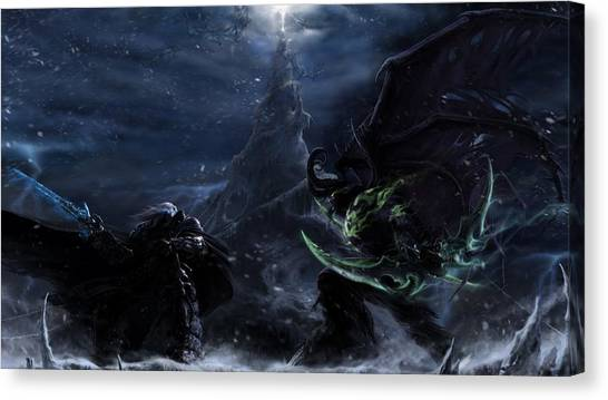 World Of Warcraft Canvas Print - 54248 World Of Warcraft by Mery Moon