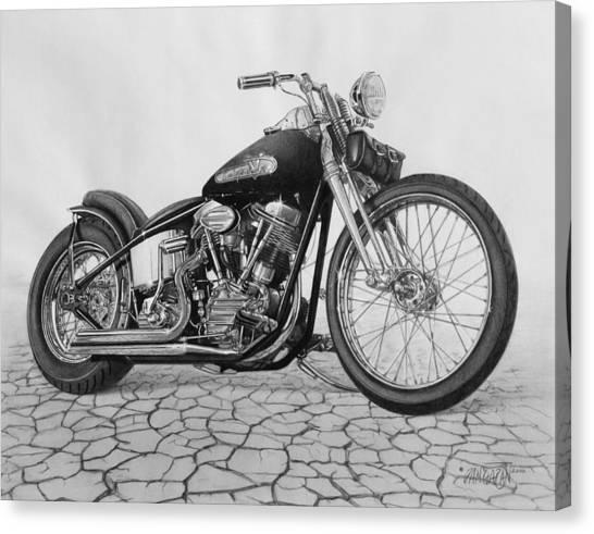 Harley Davidson Canvas Print - 55 Pan Head by Tim Dangaran