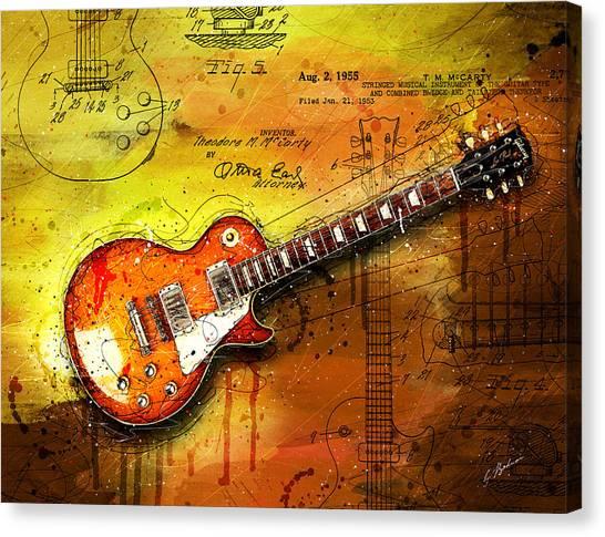 Van Halen Canvas Print - 55 Sunburst by Gary Bodnar