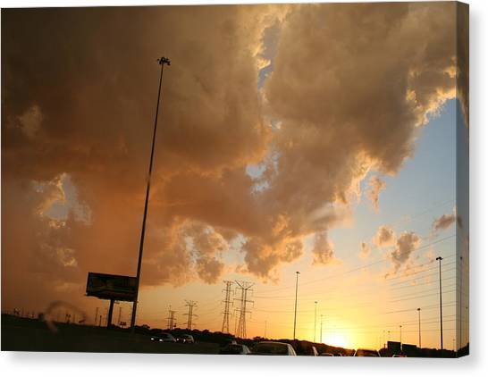 55 Sunset Canvas Print by Gregory Jeffries