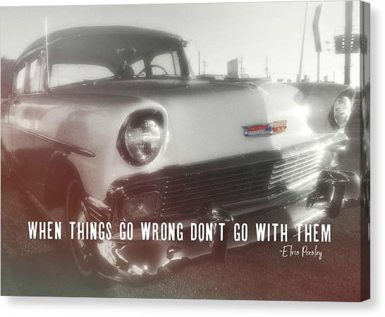56 Belair In Memphis Quote Canvas Print by JAMART Photography