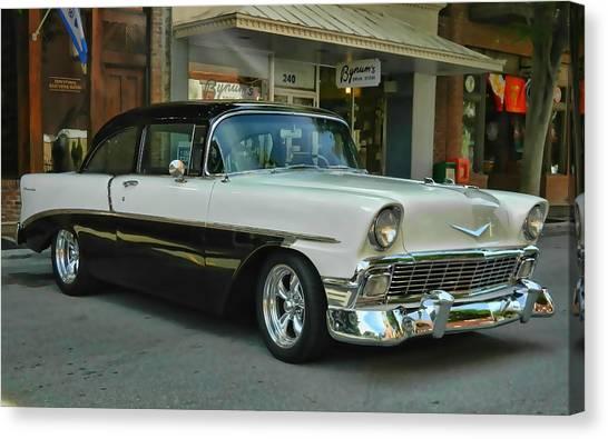 '56 Chevy Hot Rod Canvas Print