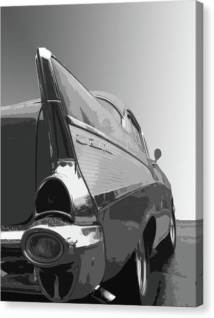 Dick Goodman Canvas Print - 57 Chevy Verticle by Dick Goodman