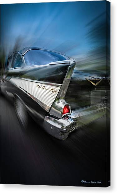 Old Hot Rod Canvas Print - 57' Go Power by Marvin Spates