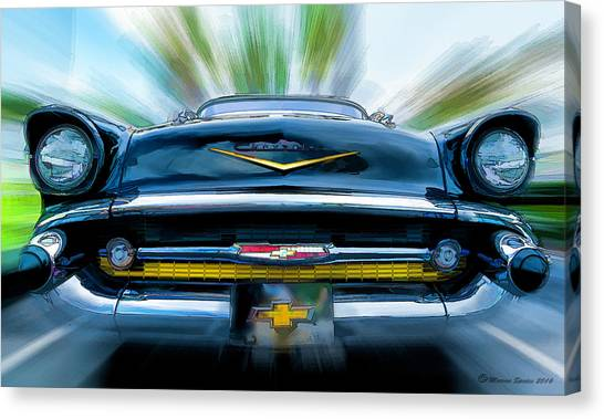 Old Hot Rod Canvas Print - 57' In Yo Face by Marvin Spates