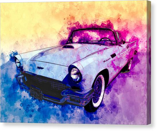57 Thunderbird Watercolour Canvas Print