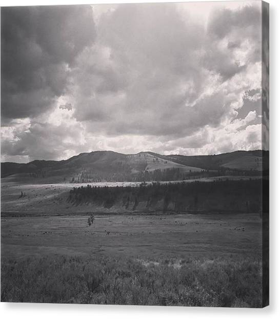 Rocky Mountains Canvas Print - Montana Yesteryear by Jonathan Stoops