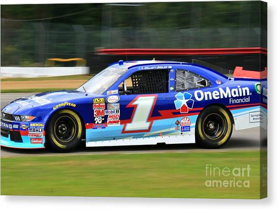 Richard Childress Canvas Print - Elliott Sadler Racing by Douglas Sacha