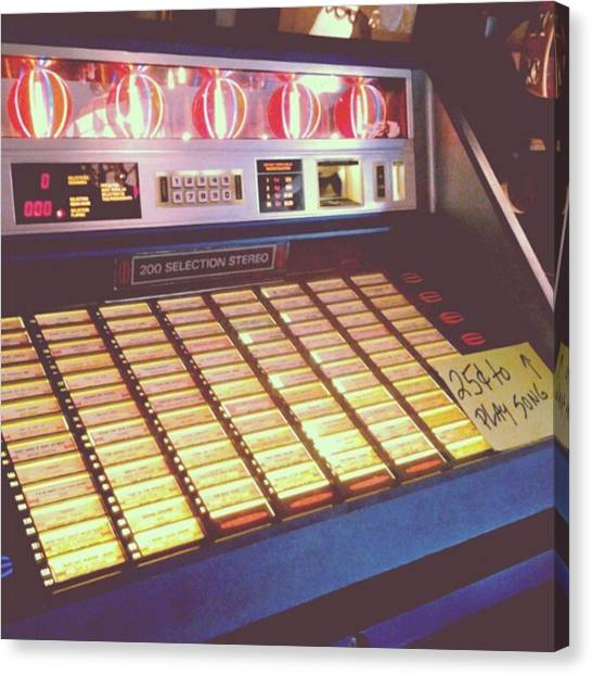 Jukebox Canvas Print - Jukebox 1 by Laurel Lee