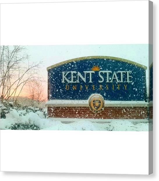 Kent State University Canvas Print - Kent State by Caitlyn Seifert