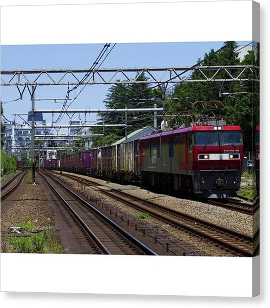 Freight Trains Canvas Print - Instagram Photo by Kujira Nijino
