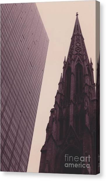 5th Avenue Nyc Old And New Canvas Print