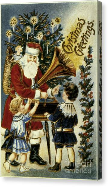 Artcom Canvas Print - American Christmas Card by Granger