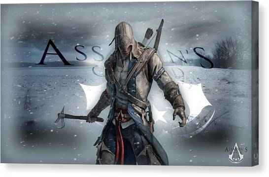 Water Skis Canvas Print - Assassin's Creed IIi by Super Lovely