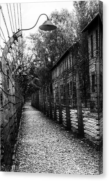 Holocaust Museum Canvas Print - Auschwitz by Angela Aird