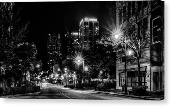 Birmingham Alabama Evening Skyline Canvas Print