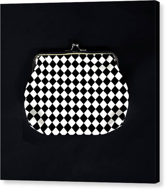 Chequered Canvas Print - Black And White by Joana Kruse