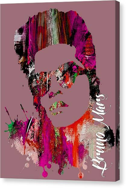 Throw Canvas Print - Bruno Mars Collection by Marvin Blaine