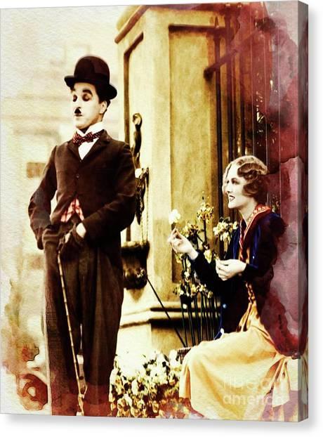 Stardom Canvas Print - Charlie Chaplin by John Springfield