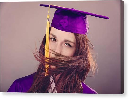 Bachelors Degree Canvas Print - Female Graduation by Peter Lakomy