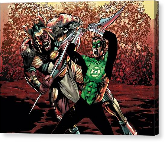 Flutes Canvas Print - Green Lantern by Super Lovely