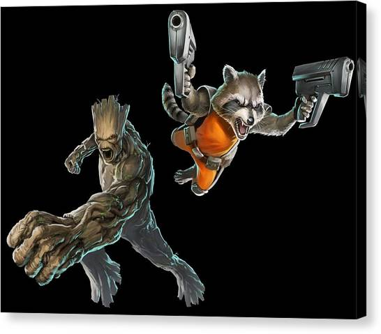 Biology Canvas Print - Guardians Of The Galaxy by Super Lovely