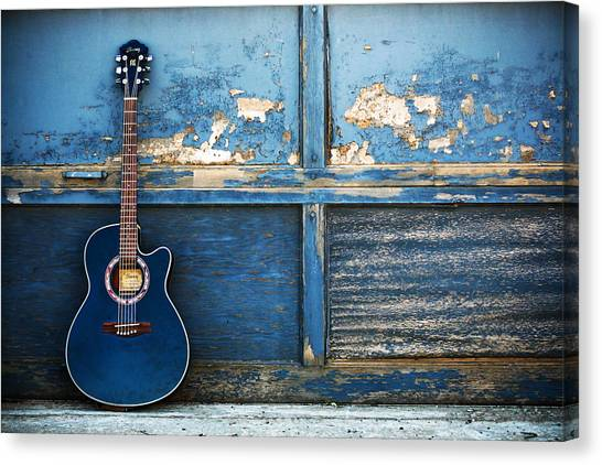 Banjos Canvas Print - Guitar by Super Lovely