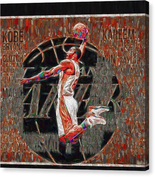 Basketball Canvas Print - @kobebryant @lakers @dodgers by David Haskett II