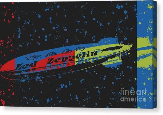 Led Zeppelin Artwork Canvas Print - Led Zeppelin by RJ Aguilar