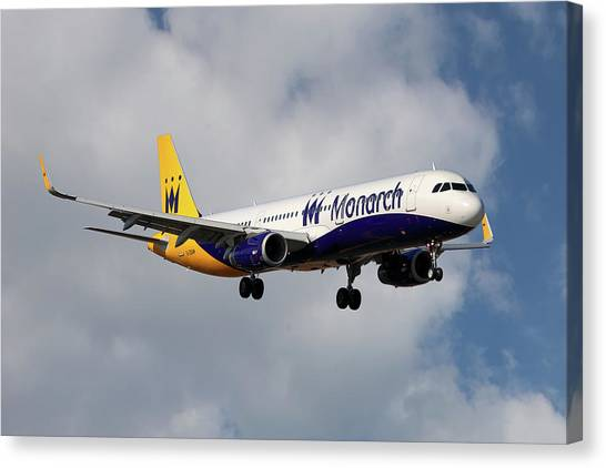 Monarch Canvas Print - Monarch Airlines Airbus A321-231 by Smart Aviation