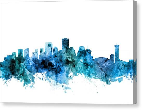 New Orleans Canvas Print - New Orleans Louisiana Skyline by Michael Tompsett