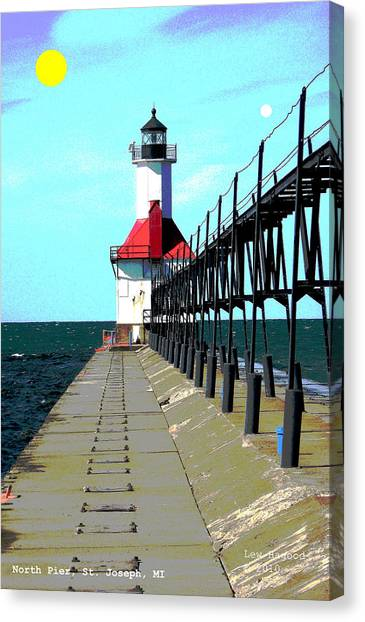 North Pier St Joseph Michigan Canvas Print