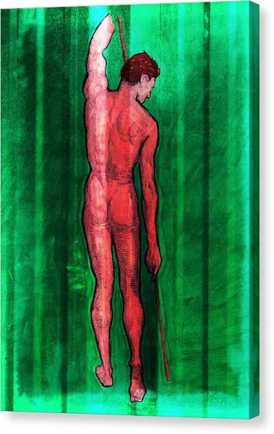 Nude Man Canvas Print