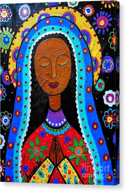 Cartera Canvas Print - Our Lady Of Guadalupe by Pristine Cartera Turkus
