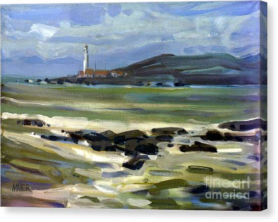 Pigeon Point Light Canvas Print by Donald Maier