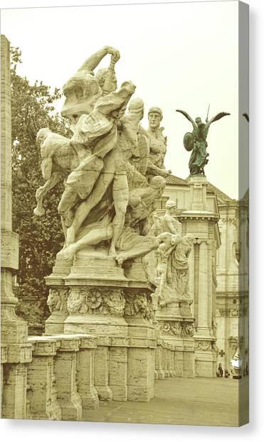 Ponte Vittorio Emanuele II Rome Canvas Print by JAMART Photography