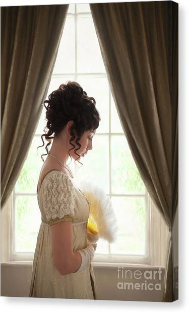 Regency Woman At The Window Canvas Print
