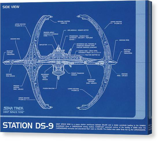 Star Trek Canvas Print - Star Trek by Maye Loeser
