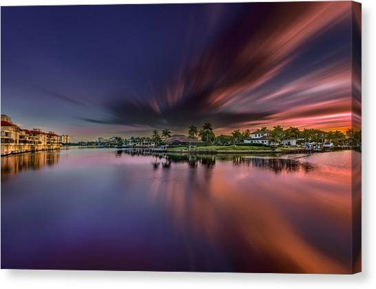 Sunrise At Naples, Florida Canvas Print