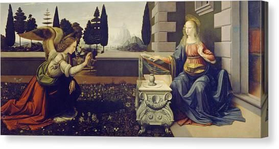 The Annunciation Canvas Print - The Annunciation by Leonardo da Vinci