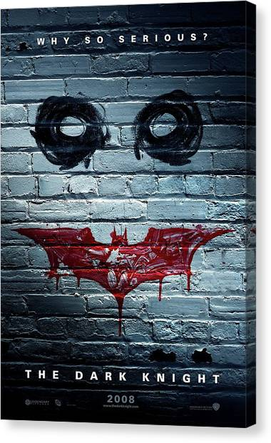 Character Portraits Canvas Print - The Dark Knight 2008  by Fine Artist