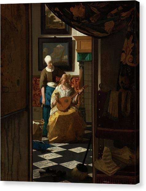 Music Genres Canvas Print - The Love Letter by Johannes Vermeer