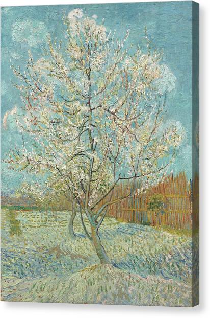 Post-modern Art Canvas Print - The Pink Peach Tree by Vincent van Gogh
