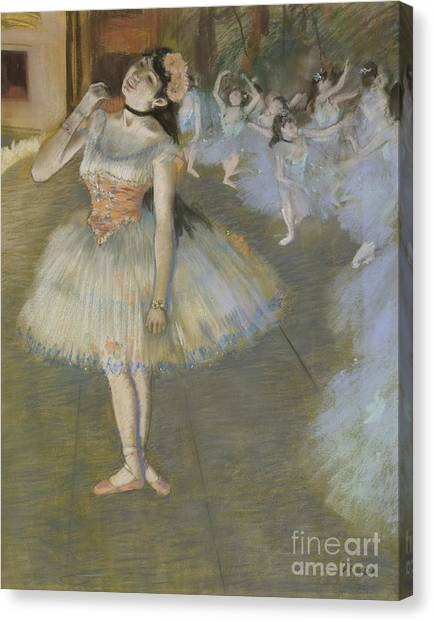 Edgar Degas Canvas Print - The Star by Edgar Degas