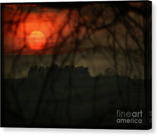 The Sunset Canvas Print by Angel Ciesniarska